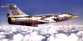 331st Fighter-Interceptor Squadron F-104A 56-821 1964.jpg