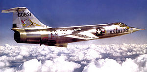 31st Air Division - Image: 331st Fighter Interceptor Squadron F 104A 56 821 1964