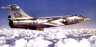 331st Fighter-Interceptor Squadron - 331st Fighter-Interceptor Squadron Lockheed F-104 Starfighter 56-821 at Webb AFB, Texas February 1964