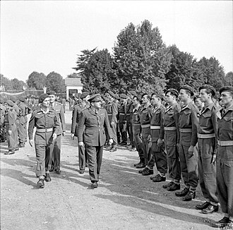 Mike Calvert - Calvert at the ceremony marking the passing of 3 and 4 SAS to France in October 1945.