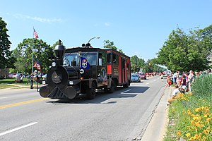 Forty and Eight veterans organization - Image: 40 & 8 boxcar in 2011 Ypsilanti Michigan Independence Day Parade