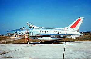 494th Fighter Squadron - Image: 494th Tactical Fighter Squadron North American F 100D 15 NA Super Sabre 54 2277