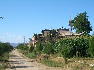 Linxia County - A village temple in Hexi Town