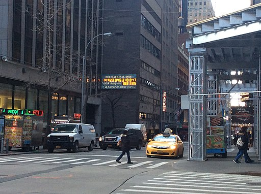 6 Av 44 St debt clock Feb 2017