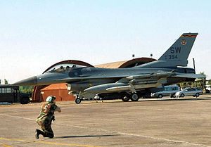 78th Attack Squadron - 78th FS F-16C Block 50D 91-0394  leaves on a mission in support of Operation Northern Watch from Incirlik AB, Turkey on 20 September 2002