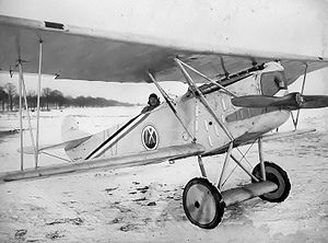 9th Aero Squadron - 9th Aero Squadron - evaluating a captured Fokker D.VII, Trier Airdrome, Germany, winter 1918-1919.