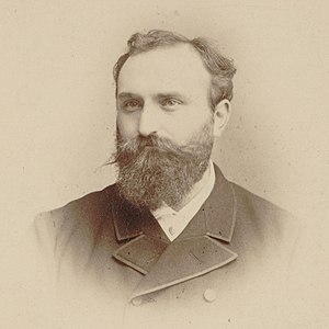 Ernest Chausson - Ernest Chausson, cabinet card photo by P. Frois, Biarritz (France), ca. 1885, Bibliothèque nationale de France