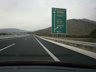 A29 Motorway, Greece - Section Vogatsiko-Neo Kostarazi - Vogatsiko Exit - 01.jpg