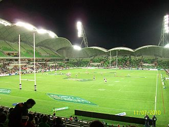 2017 Rugby League World Cup - Image: AAMI Park, Melbourne Storm v North Queensland Cowboys
