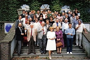 Aquatic ape hypothesis - Aquatic Ape Conference delegates in Valkenburg, 1987