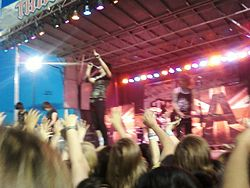 Gli Asking Alexandria in concerto a Pahrump (Nevada) nel 2010