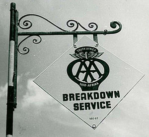 English: AA Breakdown Service