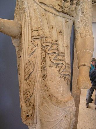 Greek dress - Detail of a Kores dress