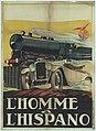 """AFFICHE VOOR DE FILM """"L'HOMME À L'HISPANO"""".jpeg"""