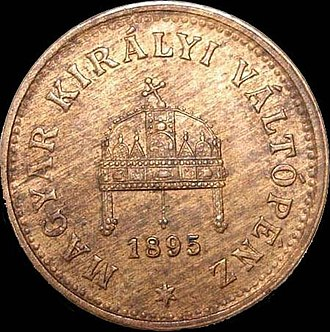 Coins of the Austro-Hungarian krone - Image: AH Kf 1 1895 obverse