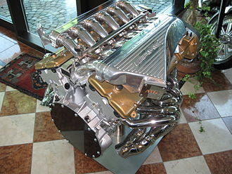 Mercedes-AMG - AMG engine display at the Pagani factory