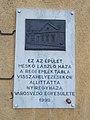 A Meskó ház emléktáblája (1999), Dózsa György utca 14, 2017 Nyíregyháza.jpg
