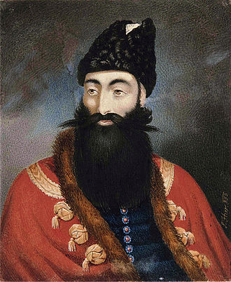Abbas Mirza - Prince Abbas Mirza, signed by L. Herr, dated 1833.