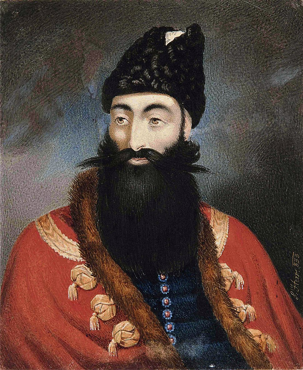A Portrait of The Crown Prince Abbas Mirza, Signed L. Herr, Dated (1)833