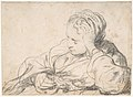 A Woman Asleep (recto); Landscape Composition with Well-Sweep (verso) MET DP800260.jpg