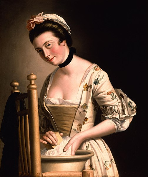 File:A Woman doing Laundry by Henry Robert Morland.jpg