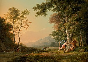 Pierre-Henri de Valenciennes - Image: A Wooded Landscape with a Bacchic Scene by Pierre Henri de Valenciennes
