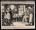 A doctor visiting a patient whose wife queries the dose. Woo Wellcome V0011463.jpg