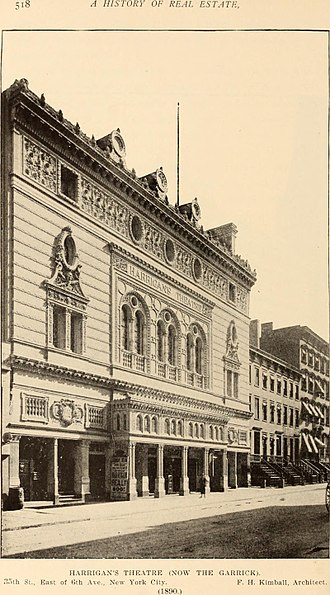 Garrick Theatre (New York City) - Image: A history of real estate, building and architecture in New York City during the last quarter of a century (1898) (14771501924)