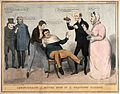 A man being restrained in a chair whilst a doctor and nurse Wellcome V0011355.jpg