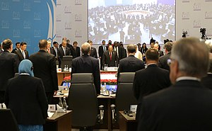 Reactions to the November 2015 Paris attacks - A minute of silence to honour the memory of the victims of the terrorist attacks in Paris before the 2015 G-20 Antalya summit