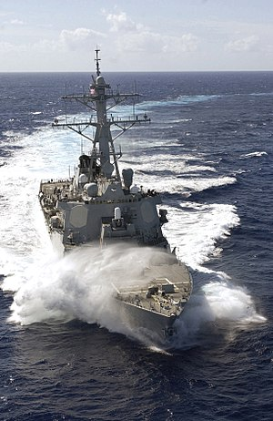 USS Russell (DDG-59) - USS Russell in the South Pacific, February 2007