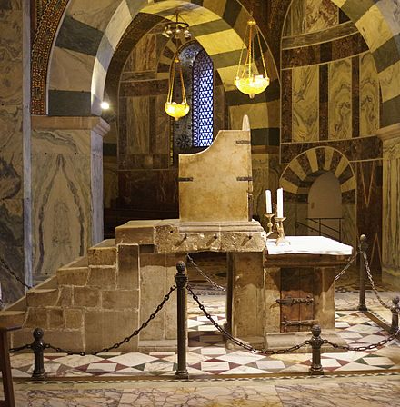 Side view of the Throne of Charlemagne at Aachen Cathedral, where Otto was crowned King of Germany in 936