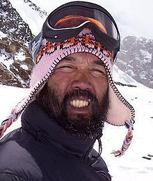 Abenojar on Everest in 2006.JPG