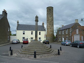 Abernethy, Perth and Kinross - Abernethy mercat cross and round tower