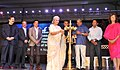 Actress Waheeda Rehman lighting the lamp at the inauguration of the 44th International Film Festival of India (IFFI-2013), in Panaji, Goa. The Minister of State (Independent Charge) for Information & Broadcasting.jpg