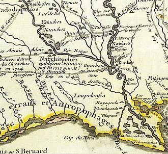Spanish Texas - The first map to depict an Adaes (Adaie) settlement, shown to the west of a cluster of Natchitoches villages, was drawn in 1718 by Guillaume Delisle.