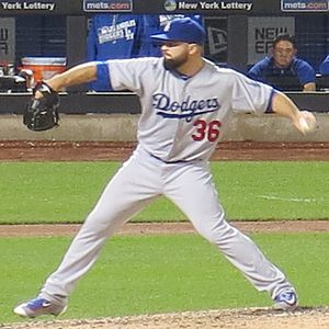 Adam Liberatore - Liberatore pitching for the Dodgers in 2016