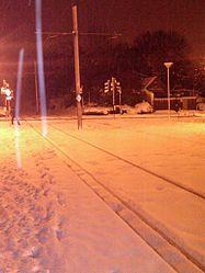 Addiscombe tram stop in deep snow c2010.jpg
