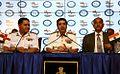 Admiral RK Dhowan addressing national media at the International Fleet Review 2016 Curtain Raiser at New Delhi.JPG