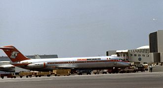 Aeromexico Flight 230 - XA-DEN, the aircraft involved in the accident, pictured in 1974 at Los Angeles International Airport