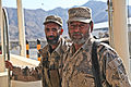 Afghan Border Police officers, serving with 2nd Coy, 4th Afghan Border Police Kandak, provide security within their compound in the La'l Por district, Forward Operating Base Shinwar, Nangarhar province 120216-A-LP603-053.jpg