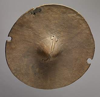 Beja people - A Beja shield made of animal hide from the 20th century, in the collection of the Walters Art Museum