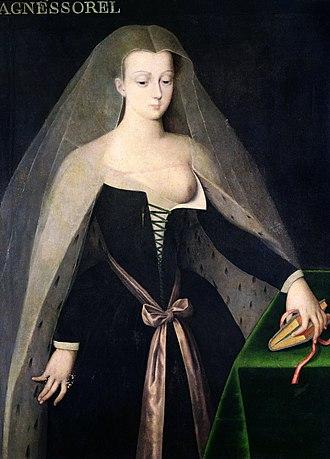 Agnès Sorel - A 16th-century portrait after Jean Fouquet's 'Virgin and Child'