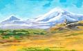 Agnes-Karikaturen-Armenia-Ararat-Kloster-Chor-Virap-Khor-Virap-monastery.tif
