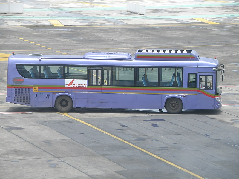 File:Air India bus in front of terminal 1C at Mumbai airport.JPG