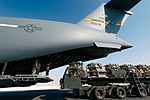 Airmen load cargo onto an 816th Expeditionary Airlift Squadron C-17 Globemaster III.jpg