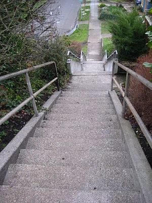 Alameda Ridge - Image: Alameda Stairway