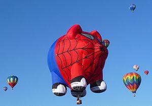 Albuquerque Balloon Fiesta 2011 - Spider Pig balloon.JPG