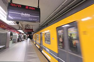 Leandro N. Alem (Buenos Aires Underground) - Image: Alem station Line B