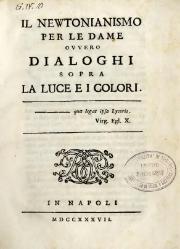 Francesco Algarotti: Il Newtonianismo per le dame